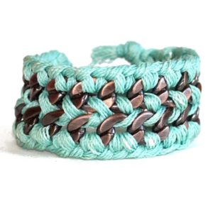 turquoise woven thread bracelet