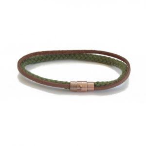 olive green rope bracelet