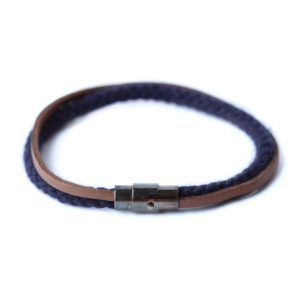 navy rope bracelet