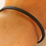 thin black leather bracelet