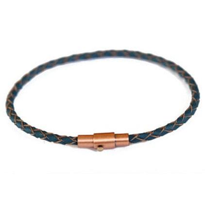 thin nautical leather bracelet