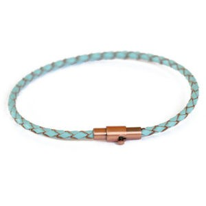 Thin Turquoise Leather Bracelet