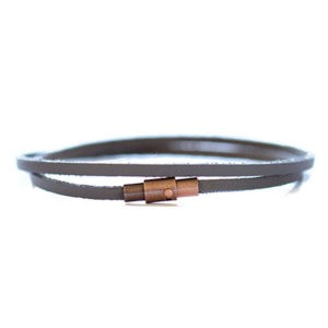 thin leather wrap bracelet