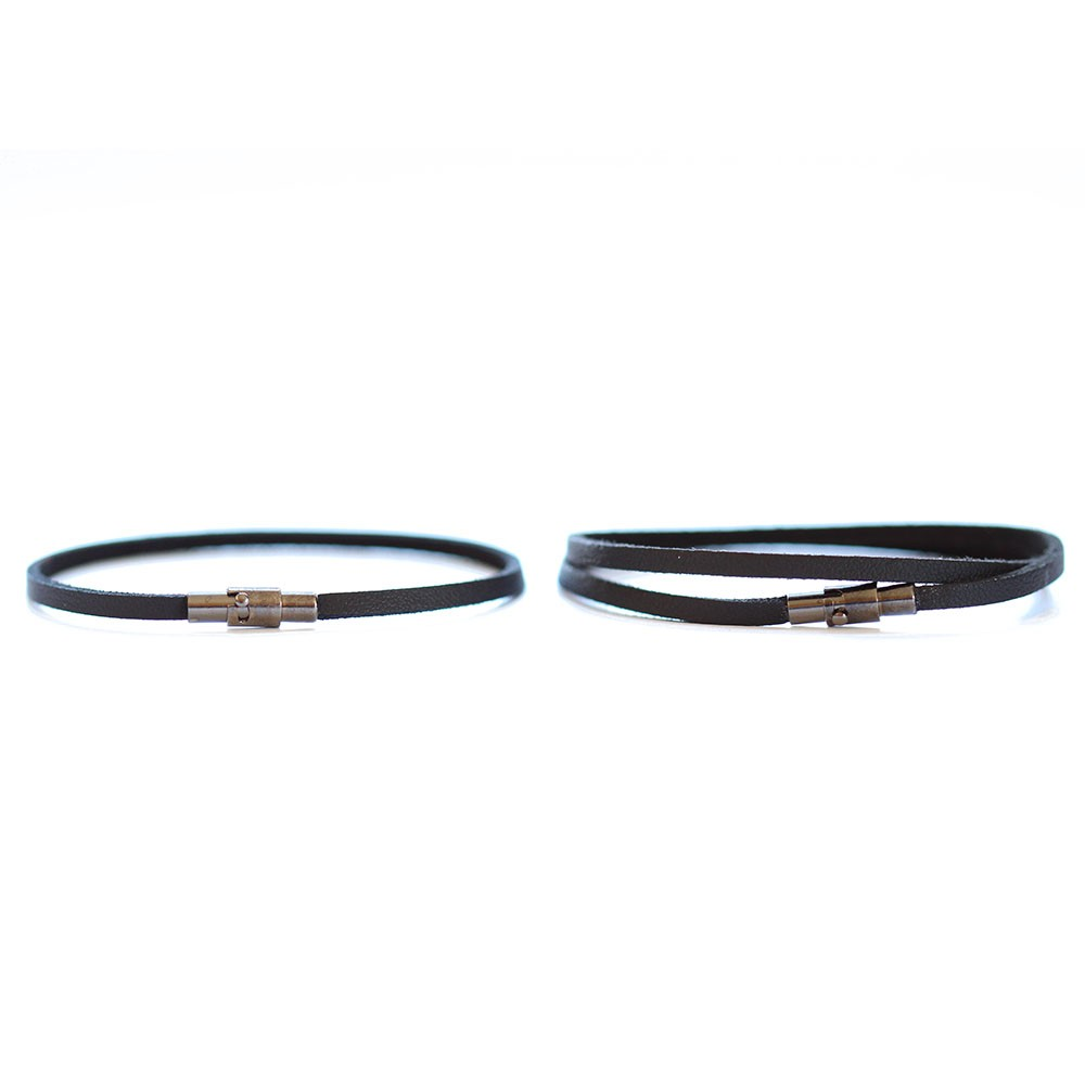 His And Her Thin Leather Bracelets
