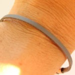 nautical thin leather bracelet