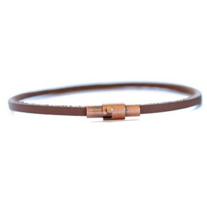 brown thin leather bracelet