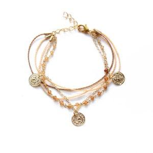 thread charm bracelet