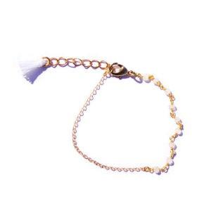 boho moonstone tassel bracelet