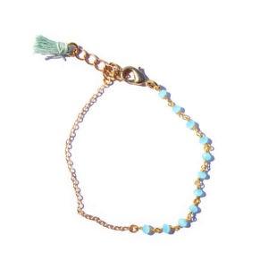 boho chalcedony tassel bracelet