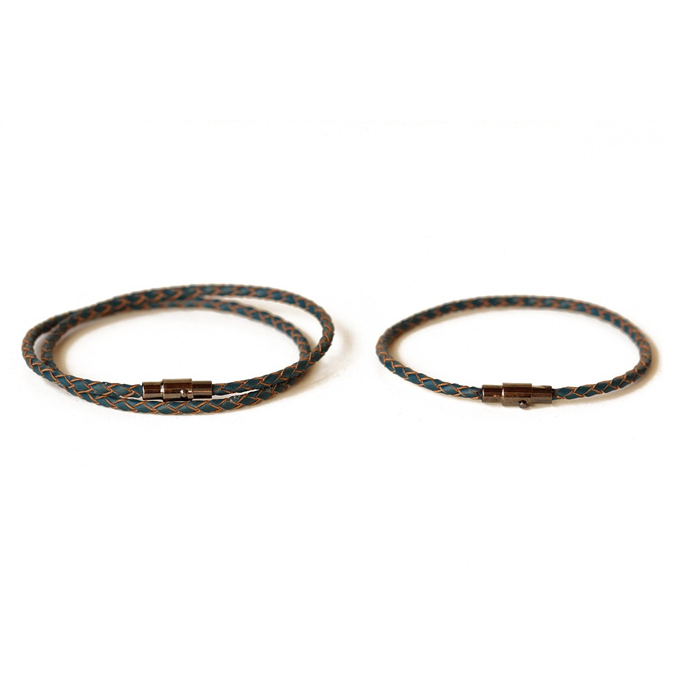 thin leather couple bracelet set chains by laurenchains