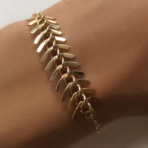 Gold vertebrae bracelet