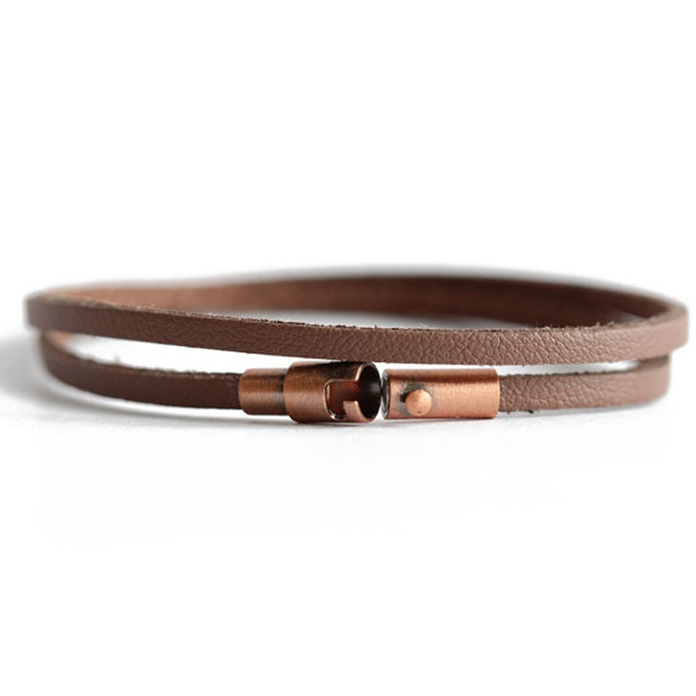Brown Leather Wrap Bracelet Vieques Chains By